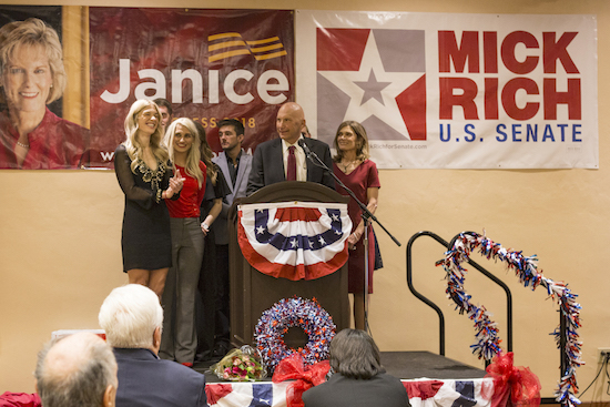 Republican Mick Rich gives his concession speech at the Republican election watch party on Nov. 6. Rich lost the U.S. Senate race to incumbent Martin Heinrich. Photo By Anna Padilla/ NM News Port