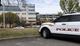 unm police car near unm hospital