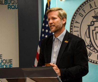 photo of albuquerque mayor tim keller at lectern
