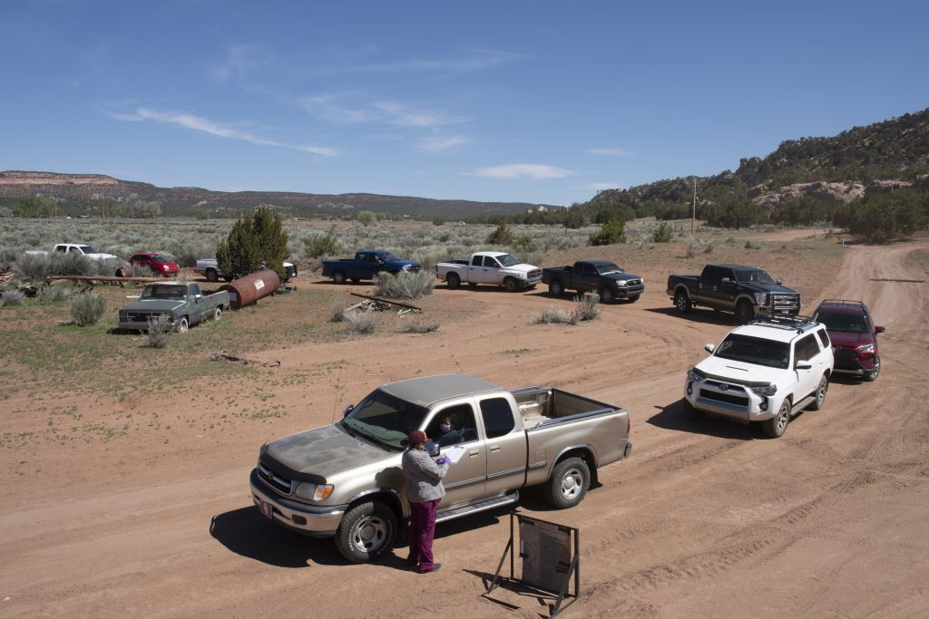 trucks lined up in Arizona