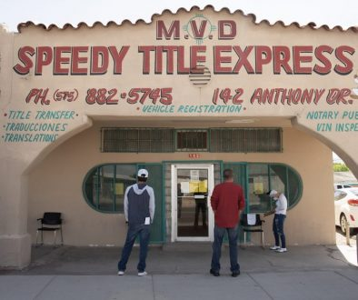 exterior of building with lettering MVD Speedy Title Express