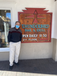 Rick Galligan, general manager of Thunderbird Bar & Grill, stands outside of the popular restaurant
